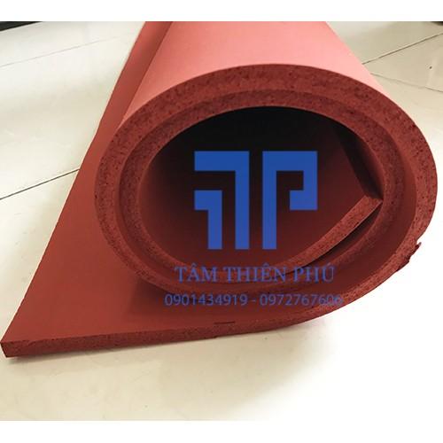 Silicone xốp đỏ dày 12mm