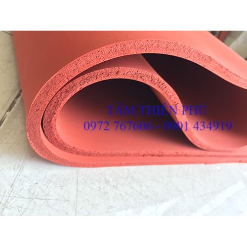 Silicone xốp đỏ dày 10mm