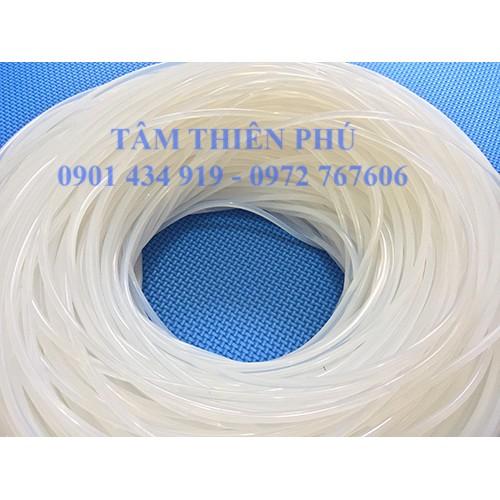 Gioăng silicone đặc màu trắng phi 5mm