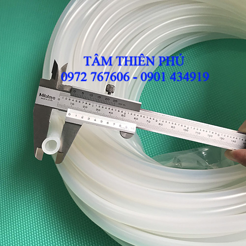 Ống silicone trắng trong
