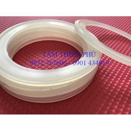 Vòng đệm cao su silicone chịu nhiệt màu trắng